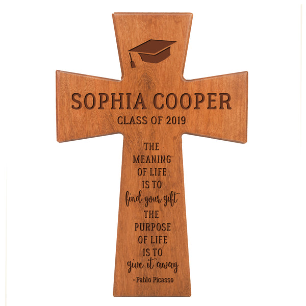 Personalized 7x11 Graduation Cross Gift For Graduate - The Meaning