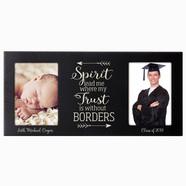 Personalized Graduation Double Photo Frame Gift - Spirit Lead Me