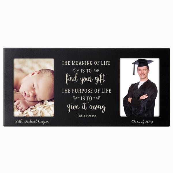 Personalized Graduation Double Photo Frame Gift - The Meaning