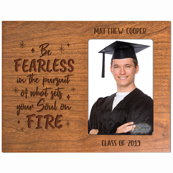 Personalized 8x10 Graduation Vertical Photo Frame Gift - Be Fearless