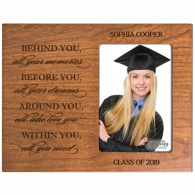 Personalized 8x10 Graduation Vertical Photo Frame Gift - Behind You