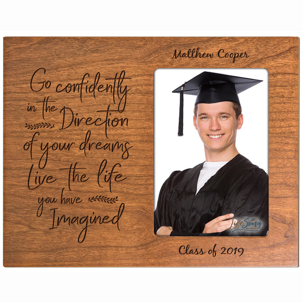 Personalized 8x10 Graduation Vertical Photo Frame Gift -Go Confidently