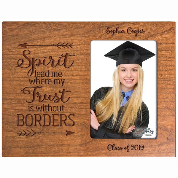 Personalized 8x10 Graduation Vertical Photo Frame Gift - Spirit Lead Me
