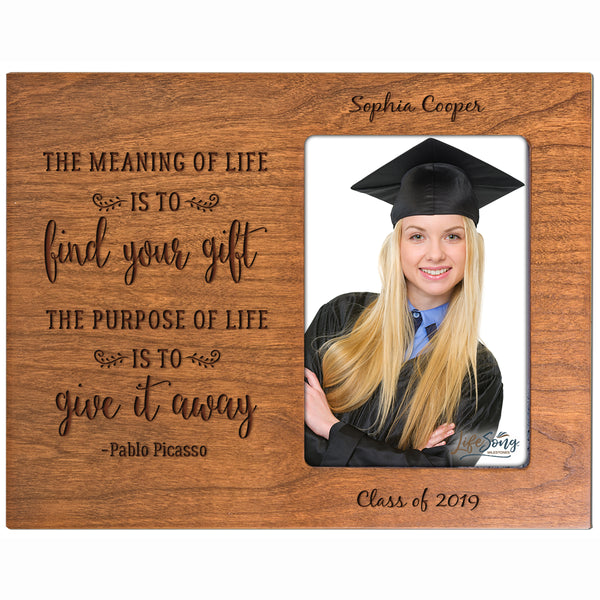 Personalized 8x10 Graduation Vertical Photo Frame Gift - Meaning Of Life