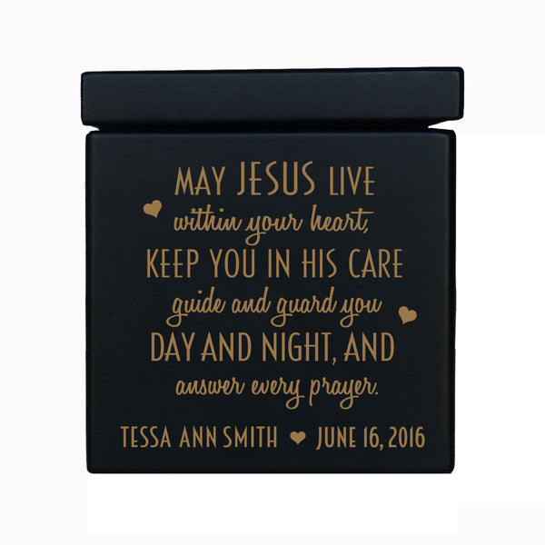 Personalized Wooden 18 Note Music Box For Kids - May Jesus Live