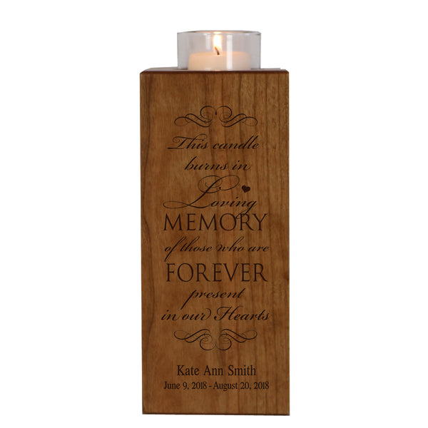 Personalized Memorial Candle Holder Funeral Gift - This Candle