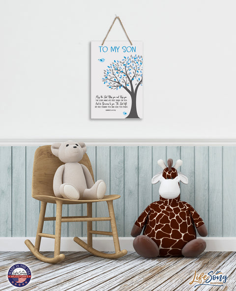 Children Wall Decor Sign - Birthday Wishes - May The Lord