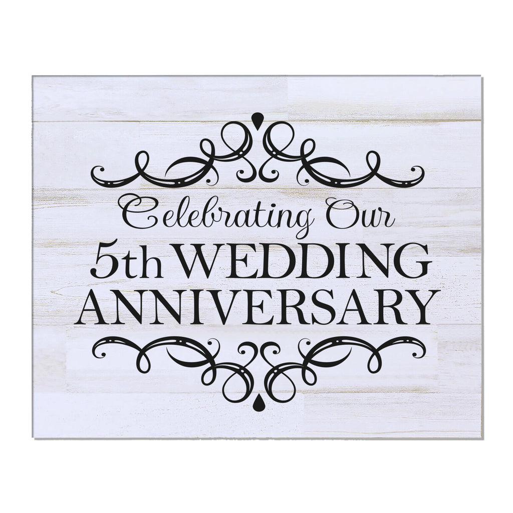 Fifth Anniversary Gift Ideas For Him Her Couple Wall Plaque