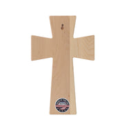 Personalized 50th Anniversary Maple Wall Cross - I Have Found The One