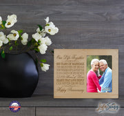 60th Anniversary Photo Frame - Our Life Together Maple