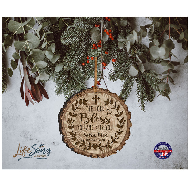 Personalized Wooden Ornament Gifts - Baptism And Christening The Lord Bless You