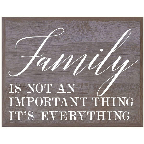 Family is the Most Important Family wedding anniversary Housewarming Gift for husband wife Parents, New Home Christian gift ideas 12 Inches w X 15 Inches By LifeSong Milestones