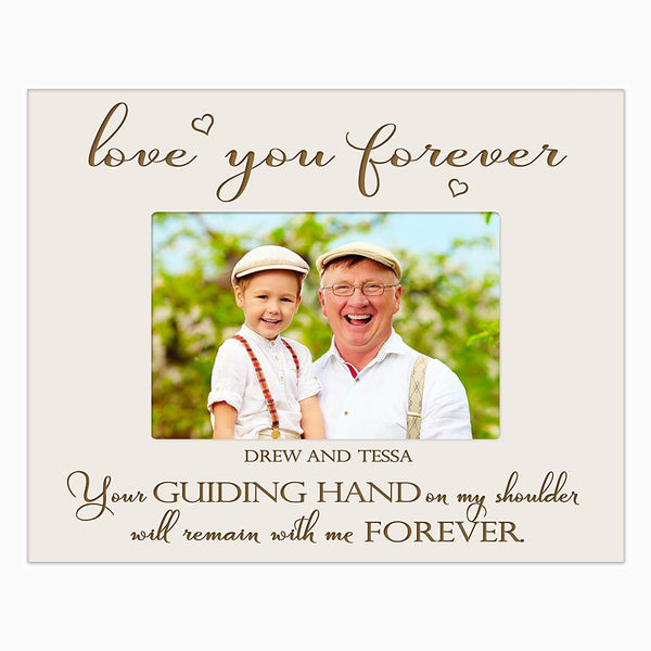LifeSong Milestones Personalized Gifts for dad Engraved birthday gifts for dad Custom picture frame Your Guiding Hand on my shoulder will remain with me forever