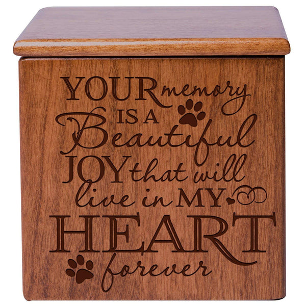 Personalized Cremation Urn Memorial Keepsake Box – Your Memory Is A Beautiful Joy Verse