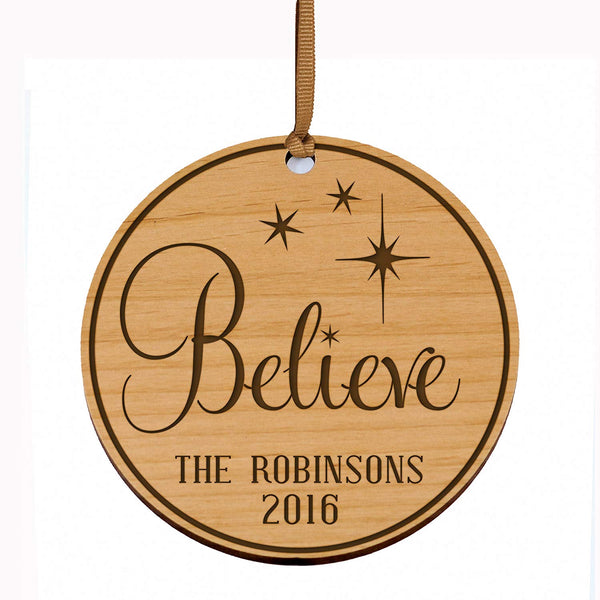Personalized Christmas Ornaments Believe