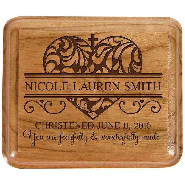 Personalized Baptism Keepsake Box 1st Holy Communion Gift Custom Sacraments Gift You are fearfully and Wonderfully made. By LifeSong Milestones