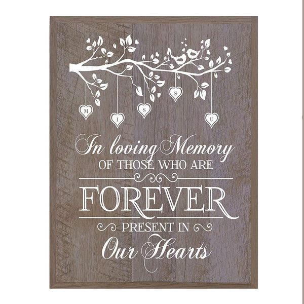 Memorial wall plaque In Loving Memory Branch 12 x 15