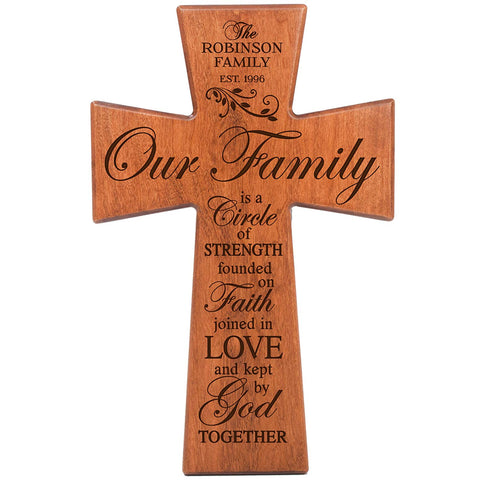 Personalized Family Wall Cross