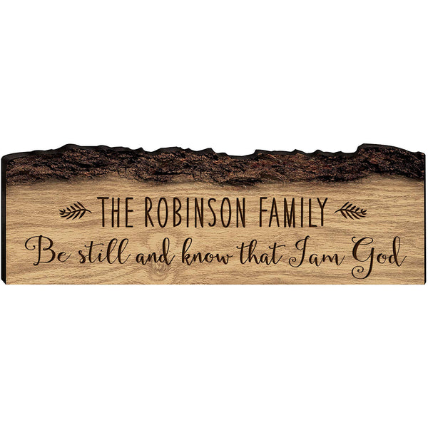 Personalized Family Name and Date Established - Be Still and Know That I Am God