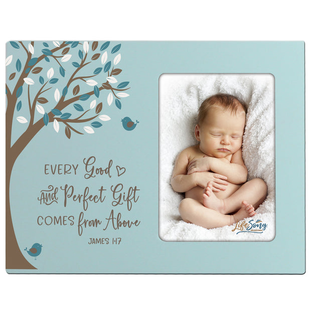 1st Baptism Blessing Photo Frame Gift For Newborn - Good and Perfect