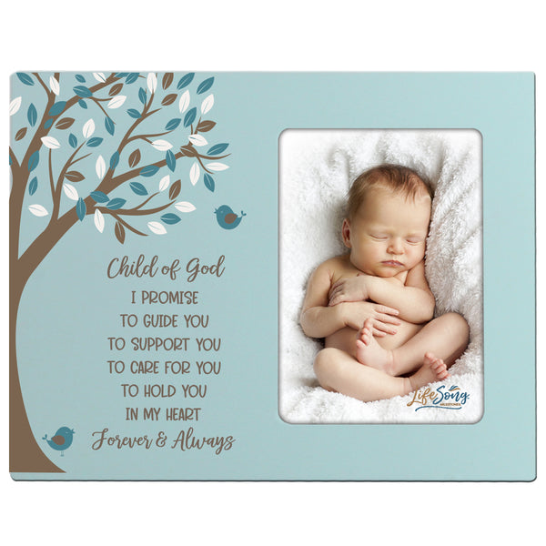 1st Baptism Blessing 4x6 Photo Frame Gift For Newborn - Child of God