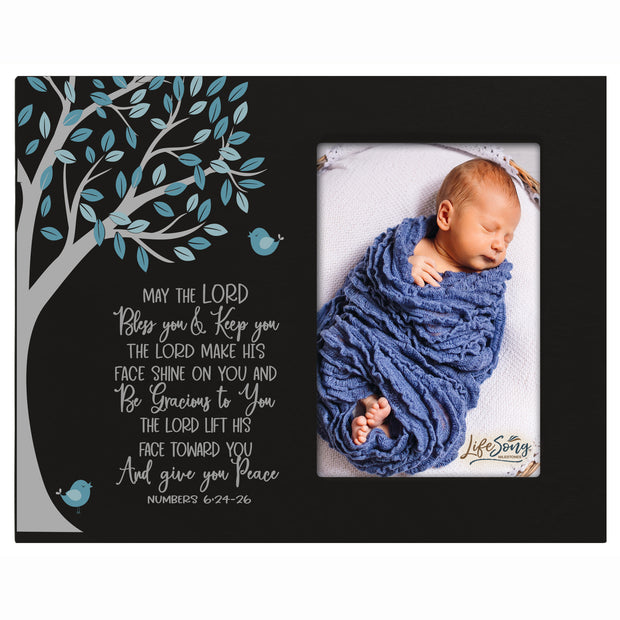 1st Baptism Blessing Photo Frame Gift For Newborn - May The Lord