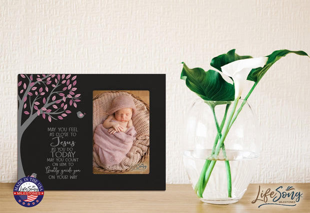 1st Baptism Blessing Photo Frame Gift For Newborn - May You Feel