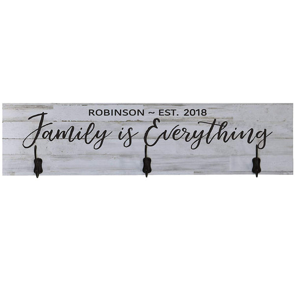LifeSong Milestones Personalized Family Is Everything Established Date Wall Signs Custom Last Name for home Wedding, Anniversary, Living Room, Entryway, Kitchen, Bedroom