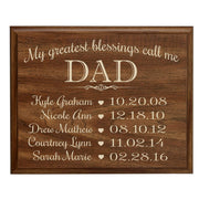 Personalized Hanging Wall Plaque For Dad