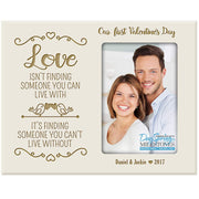 our first picture frame love photo ivory