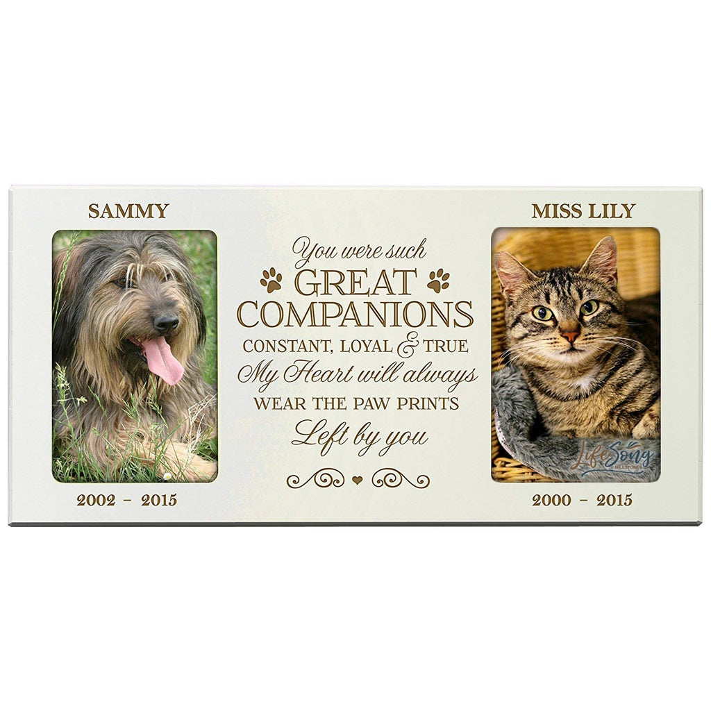 Personalized Pet Memorial Gift, Sympathy Photo Frame, You Were Such ...