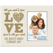 all you need is love gift family frame picture ivory