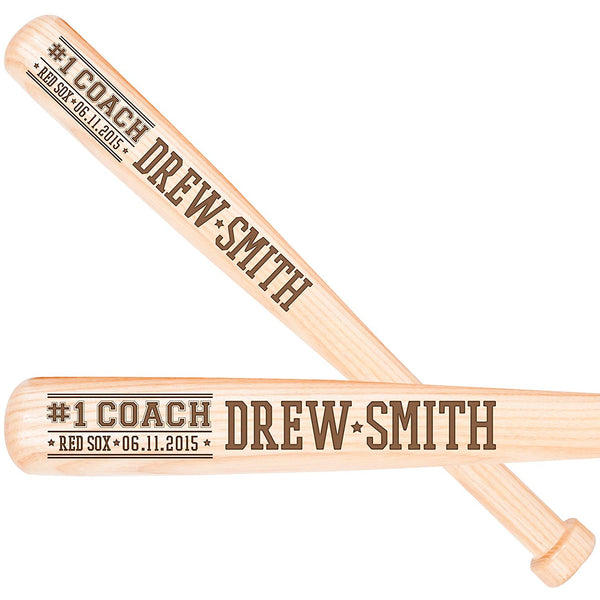 Personalized Engraved Baseball Bat Coach Gift