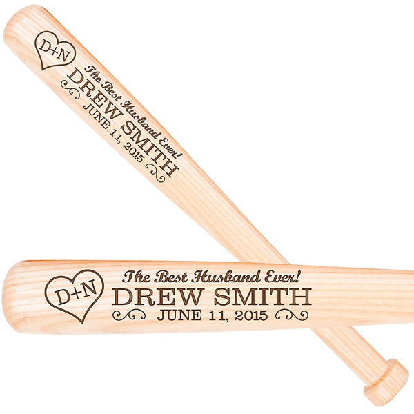 Personalized Wedding Anniversary Baseball Bat Gift