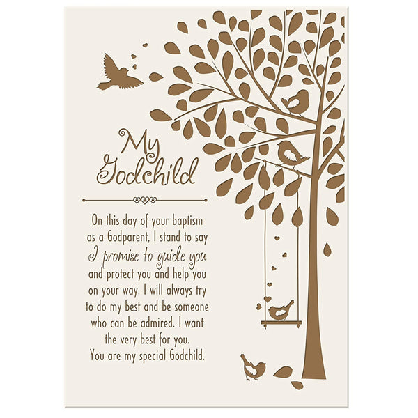 LifeSong Milestones Baptism Gifts for Girls and Boys 1st holy communion ideas for Godchildren Wall plaque 6x8