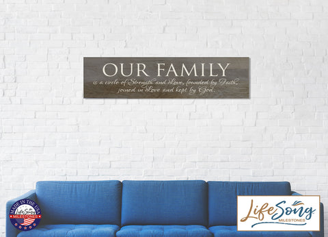 Our Family Is A Circle of Strength Decorative Wall Sign