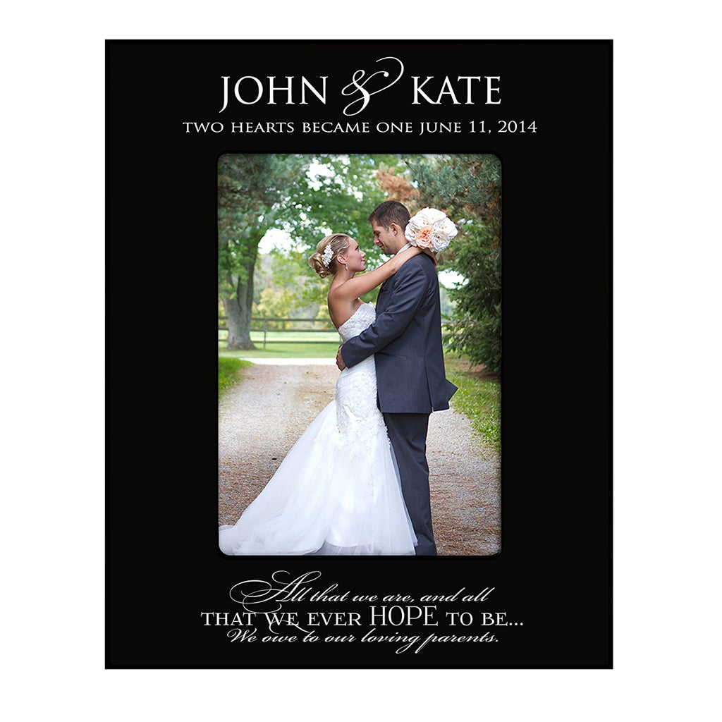 Wedding Photo Frame Personalized Parent Wedding Gifts Two Hearts