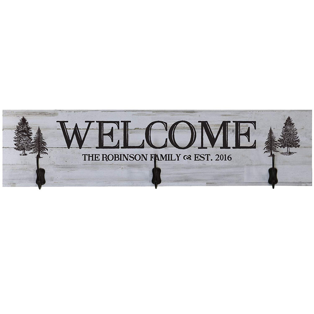 Personalized Welcome Family Established Date Wall Signs