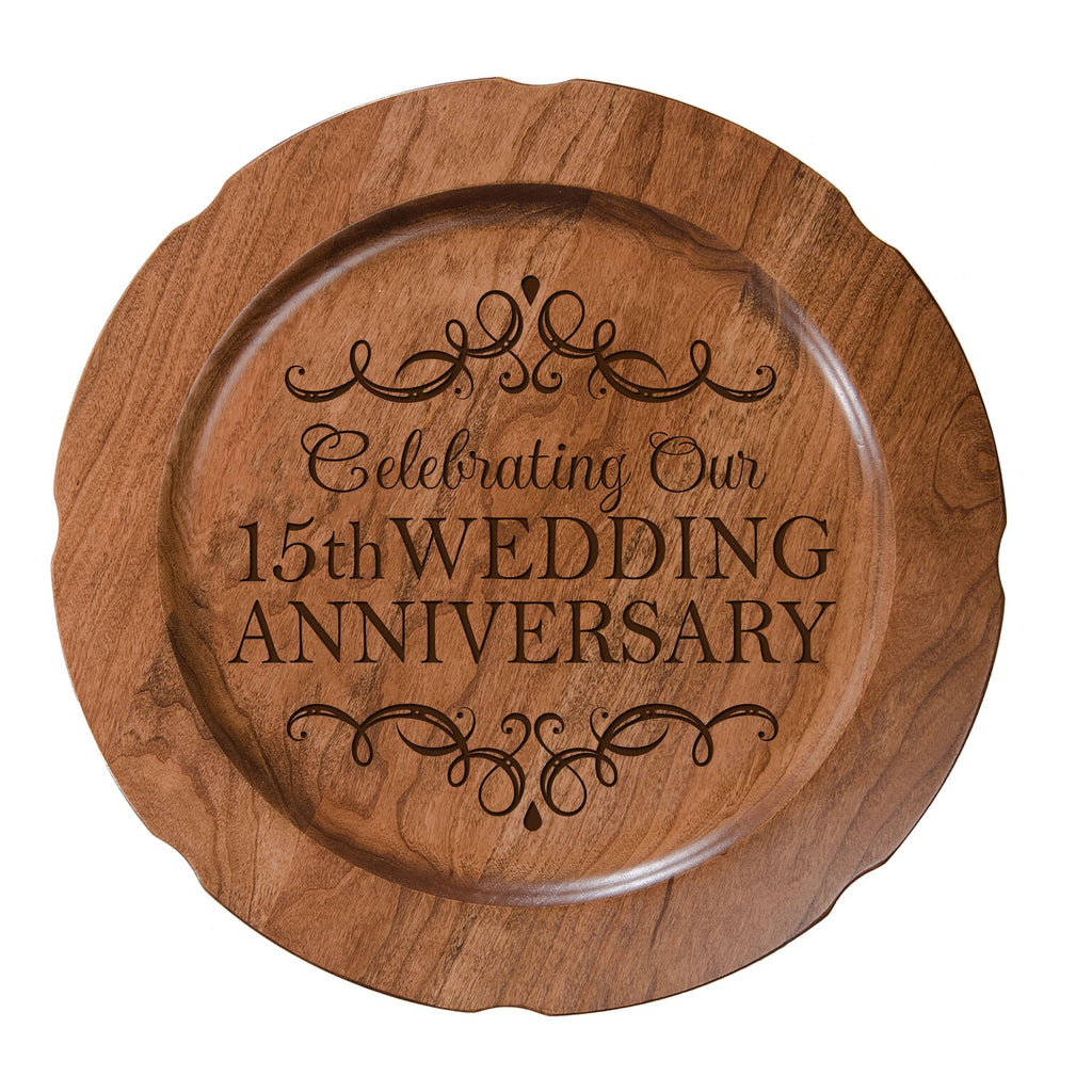15th Wedding Anniversary.Decorative 15th Wedding Anniversary Plate Gift For Mr And Mrs