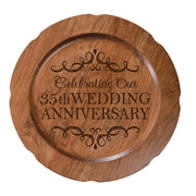 LifeSong Milestones Personalized 35th Happy Wedding Anniversary Decorative Plate - Thirty Five Year Gift for Parents Husband Wife Him Her Couple 12""