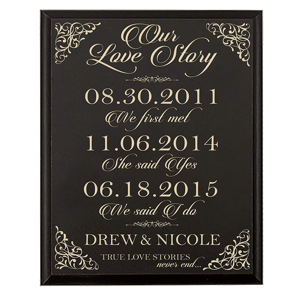 Personalized Every Love Story Is Beautiful but Ours Is My Favorite Parent Wedding Gift Wedding Anniversary for Couple Wedding Sign, Special Dates to Remember