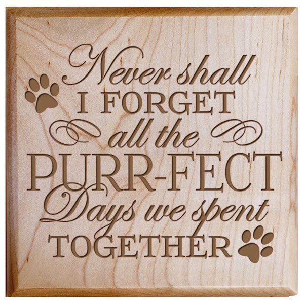 "Pet Urns SMALL Sympathy Keepsake box for pet urn for ashes PURR-FECT Days We Spent Together SMALL portion of ashes 5.5"" x 5.5"" x 3.5"" inches (Maple)"