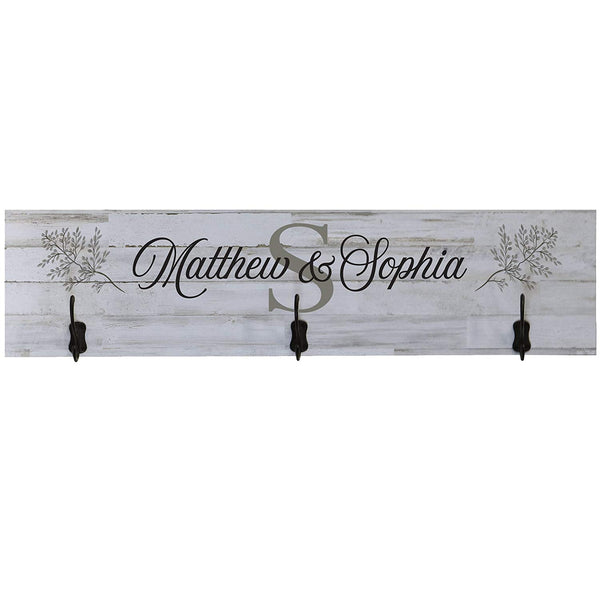 Personalized Family Established Coat Rack Wall Sign