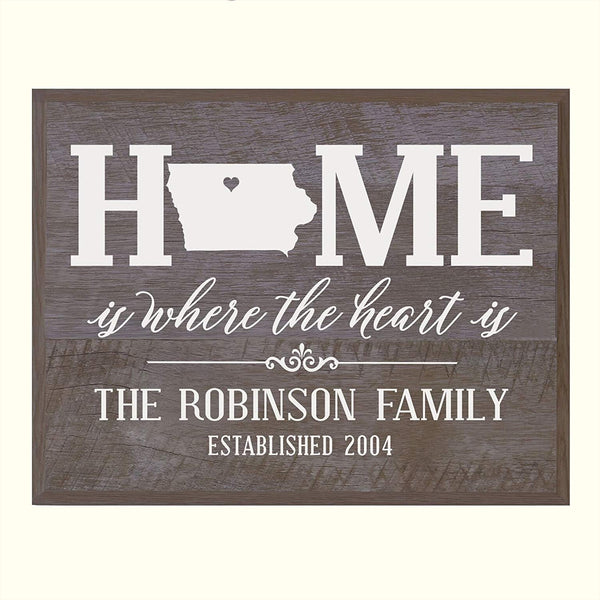 Personalized Iowa State Home is Where the heart is Sign
