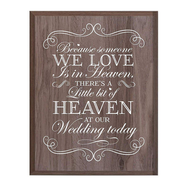 Memorial wall plaque Bit of Heaven size 12 x 15