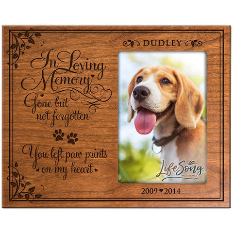 Pet Memorial Photo Frame - Gone But Not Forgetten - Holds 4x6 Photo