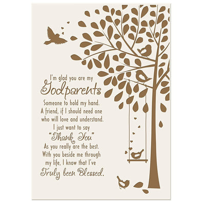 Godparent 6x8 Wall Plaque Gift