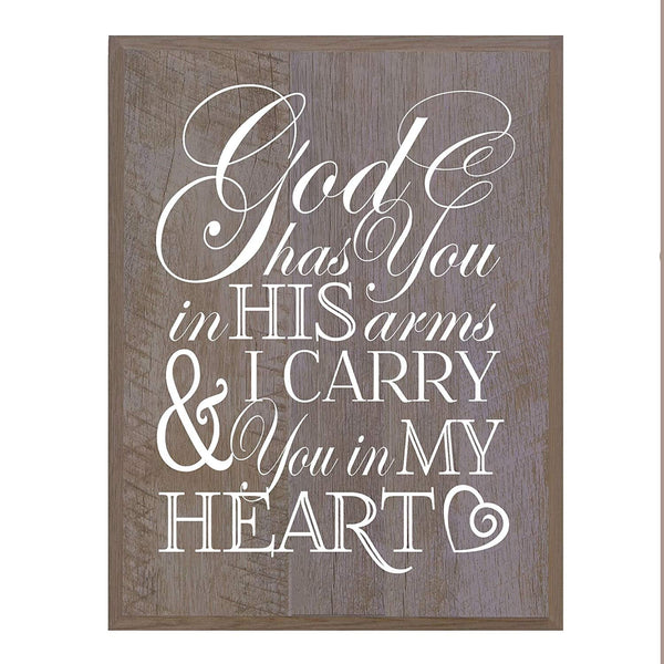 Memorial wall plaque God Has You size 12 x 15
