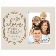Personalized Valentine's Day Photo Frame - Love Is Patient Ivory