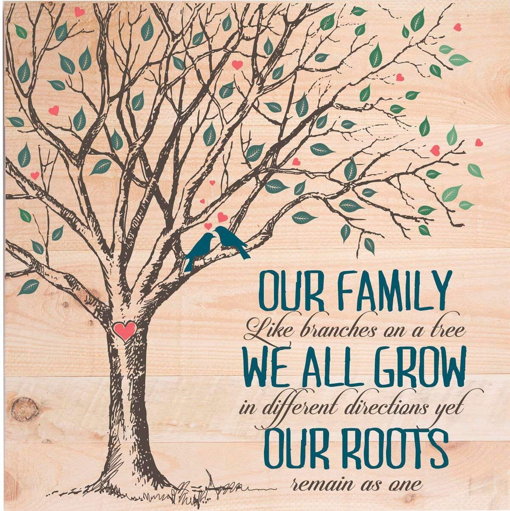 ... Pallet Wall Art And Personalized Wall Plaque  Our Family Like Branches  On A Tree ...